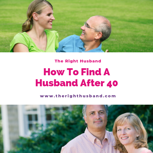 How to find a husband after 40